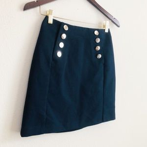 H&M Navy military style high waisted skirt - US 4